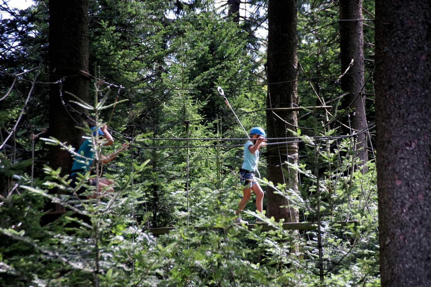 Ausflugstipp im Mühlviertel: Hochseilpark Böhmerwald - Hotel Almesberger****S